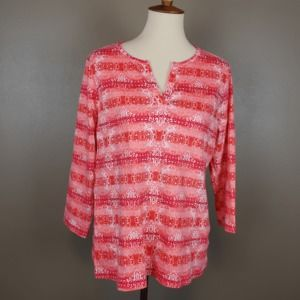 Orange & Pink Abstract Design Top by Kim Rogers